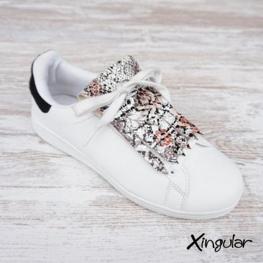 flecos zapatillas serpiente floral