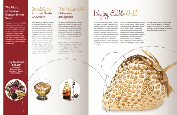 gold desserts layout