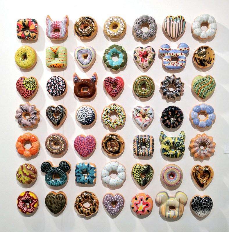 la art show doughnuts art