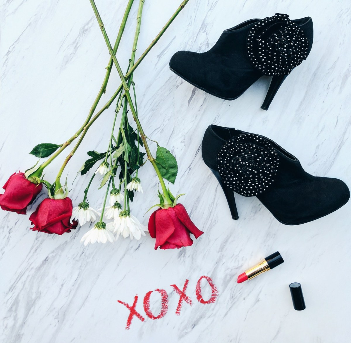 shoes and roses