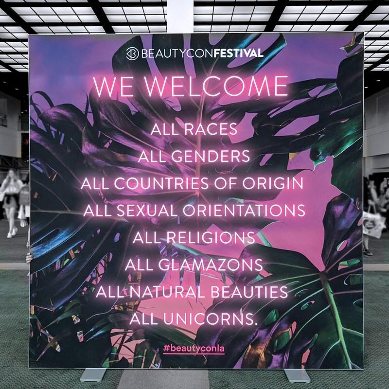 beautycon welcome banner