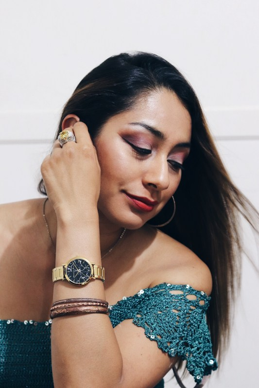 xio arleen wearing christian paul watch