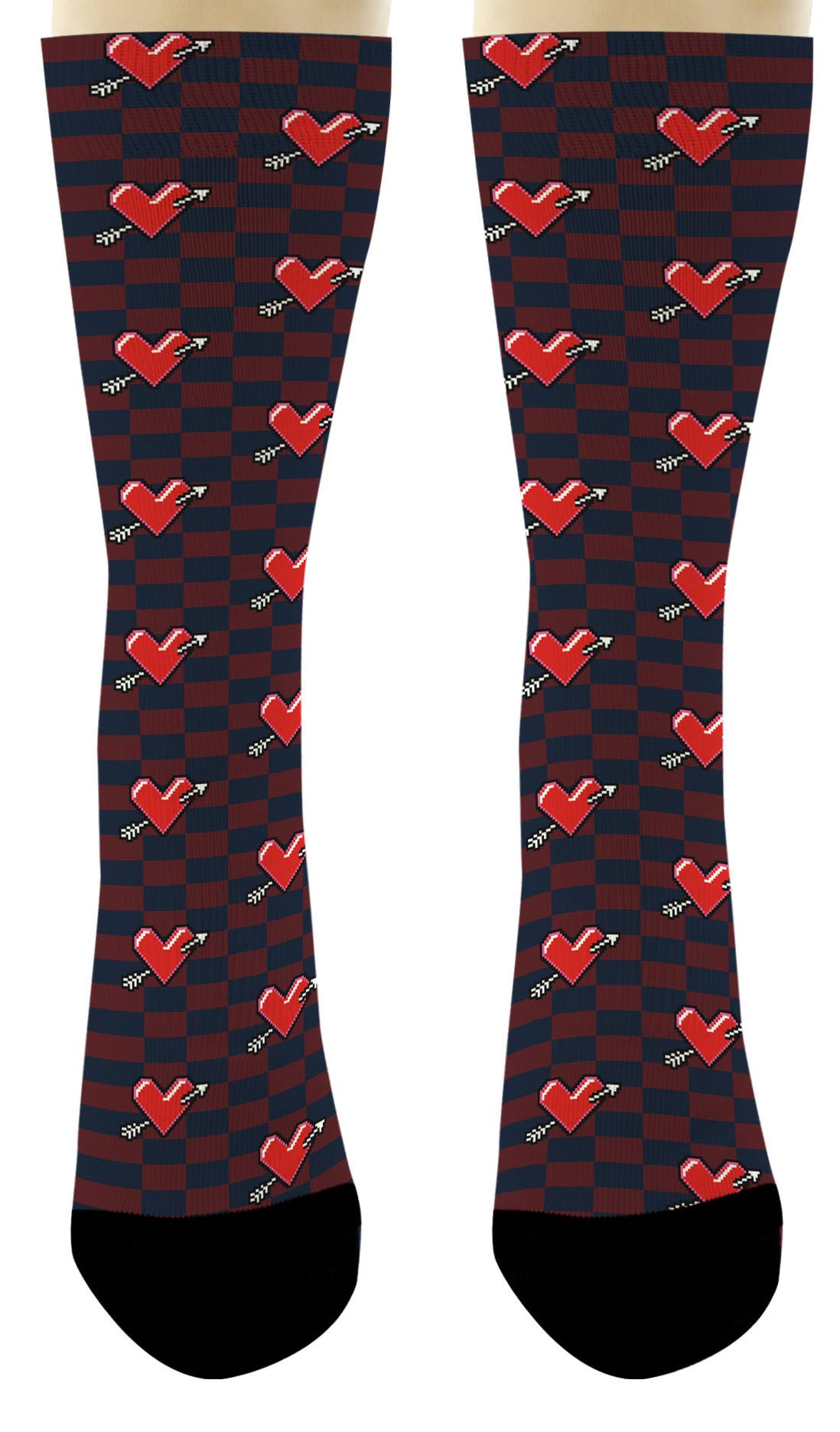 Couples Ts Arrow Heart Socks Valentines Day Ts For