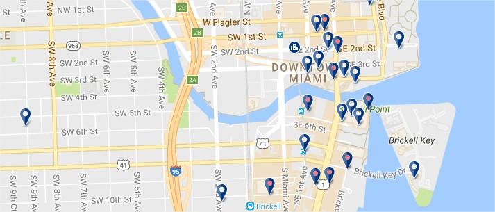 Downtown Miami - Clicca qui per vedere tutti gli hotel su una mappa