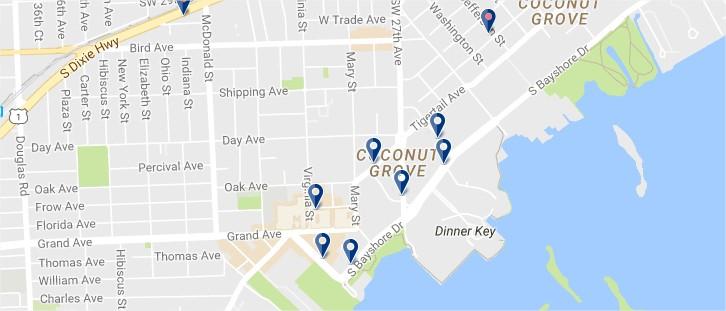 Miami - Coconut Grove - Clicca qui per vedere tutti gli hotel su una mappa