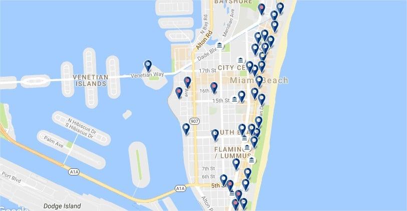 South Beach - Clicca qui per vedere tutti gli hotel su una mappa