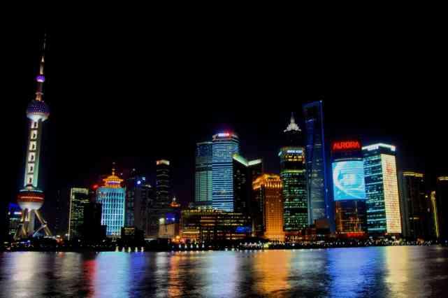 Shanghai - Distrito financiero de noche