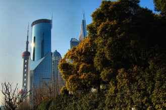 Shanghai - Parque y rascacielos