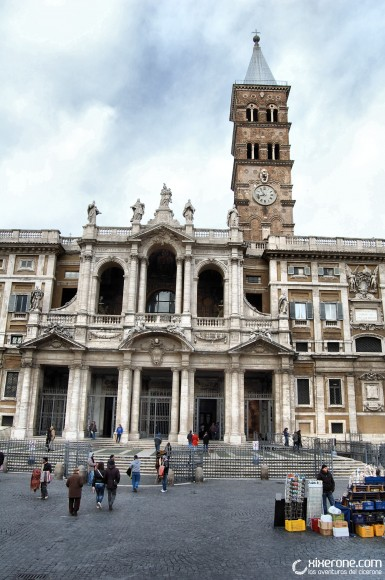Fachada de la basílica de Santa Maria Mayor