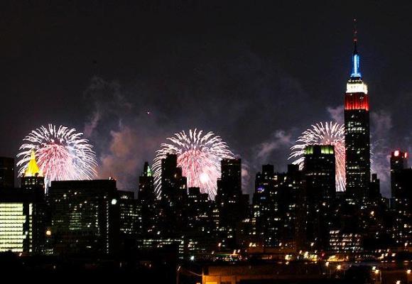 El Empire State durante el 4 de julio