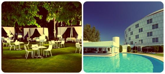 Terraza exterior y piscina