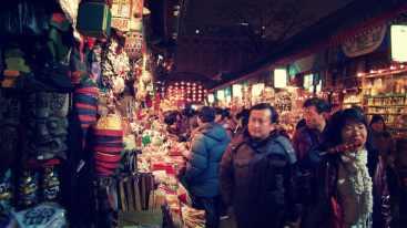 Mercado nocturno en Pekín