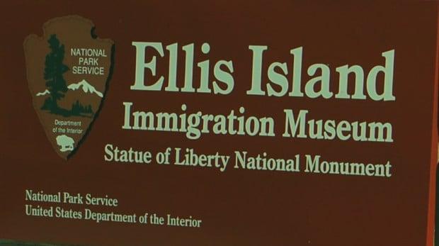 Letrero Ellis Island