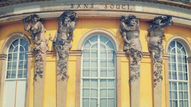 Estatuas barrocas en Sans Souci - Potsdam Alemania