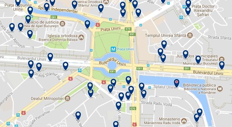 Bucarest - Piata Unirii - Haz clic para ver todos los hoteles en un mapa