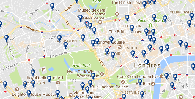 Westminster Borough - Haz clic para ver todos los hoteles en esta zona