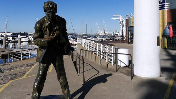 Estatua de Jack London en Oakland
