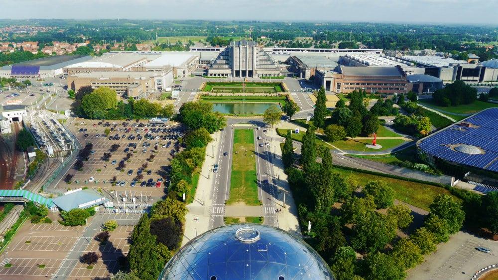 Vistas desde el Atomium de Bruselas