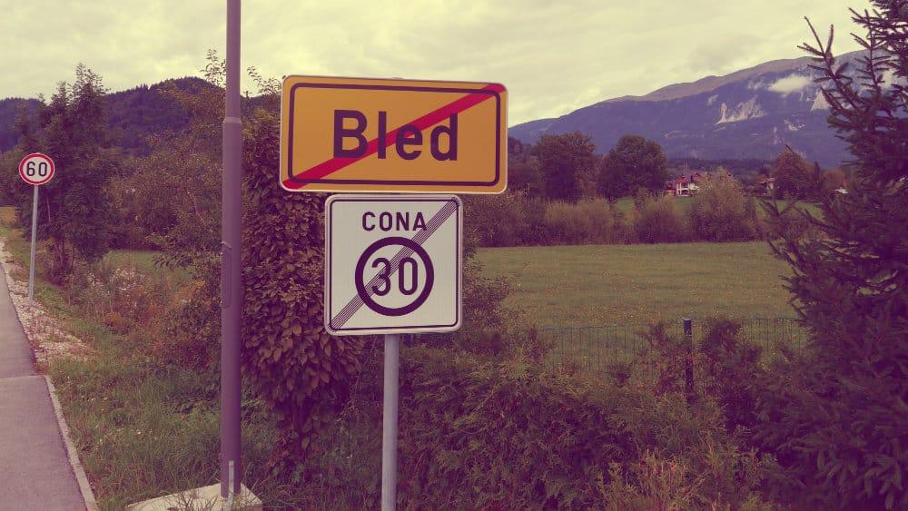 Vintgar está a unos kilómetros al norte de Bled