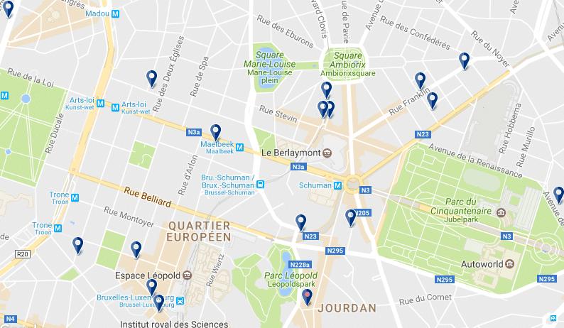 Quartiere Europeo - Clicca qui per vedere tutti gli hotel su una mappa