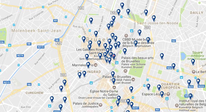 Dormir en el Centro de Bruselas - Haz clic para ver todos los hoteles