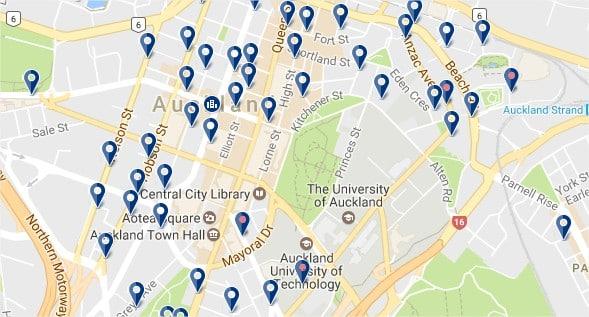 Alojamiento en el centro de Auckland - haz clic para ver todos los hoteles