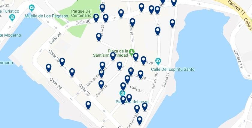Cartagena - Getsemaní - Clicca qui per vedere tutti gli hotel su una mappa