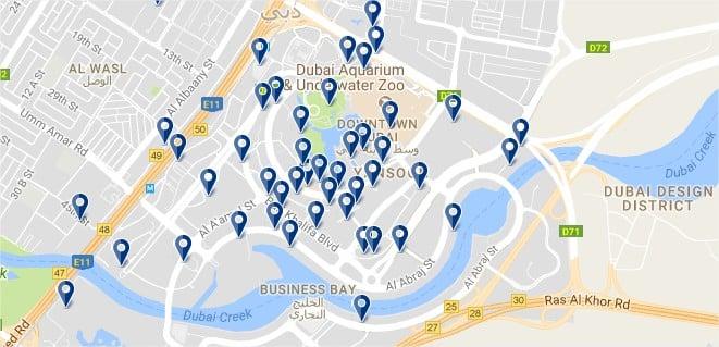 Dubai Downtown - Haz clic para ver todos los hoteles en un mapa