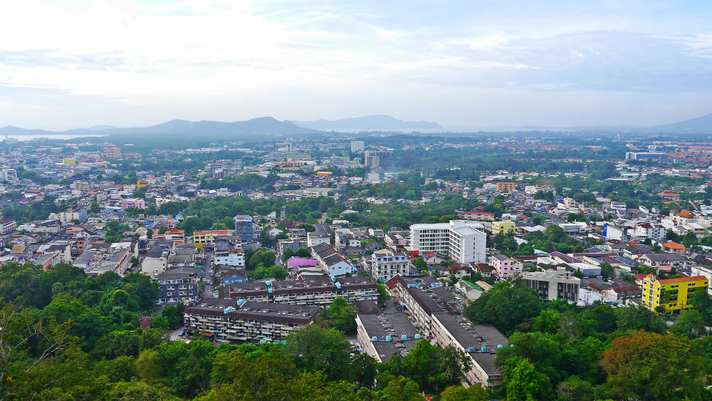 Vistas desde Khao Rang en Phuket Town