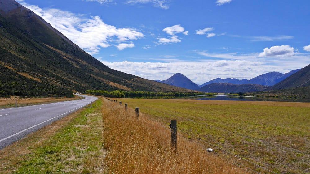 Carretera en Nueva Zelanda