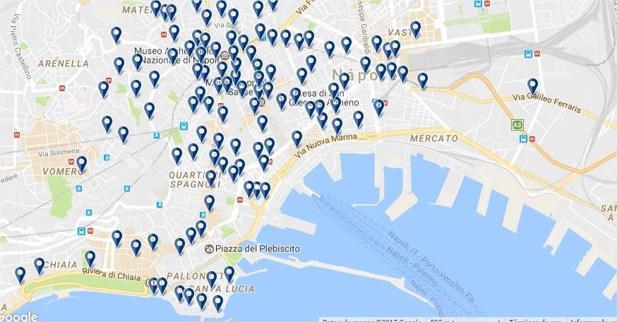 Hoteles en Nápoles - Haz click para ver todas las opciones en un mapa