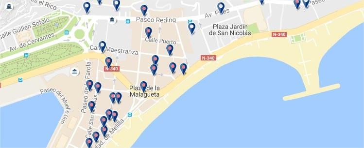 La Malagueta - Málaga - Haz clic para ver todos los hoteles en un mapa
