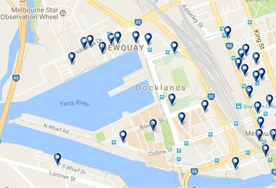 Melbourne Docklands - Haz clic para ver todos los hoteles en un mapa