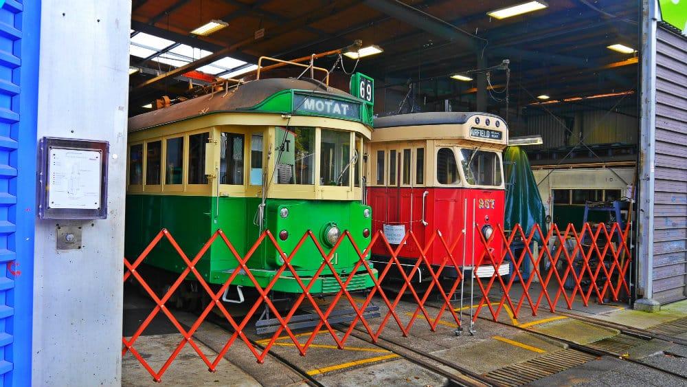 Colección de tranvías en el MOTAT