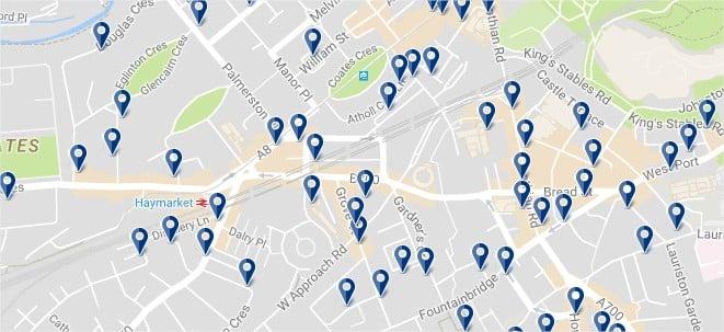 West End - Haz clic para ver todos los hoteles en un mapa