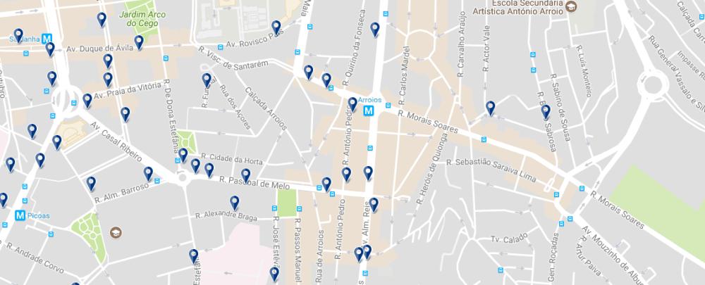 Arroios - Haz clic para ver todos los hoteles en esta zona