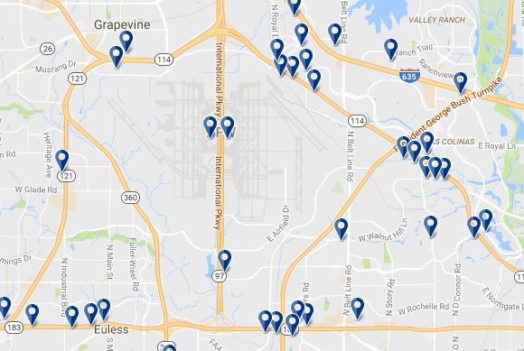 Dallas-Fort Worth Airport - Haz clic para ver todos los hoteles en esta zona