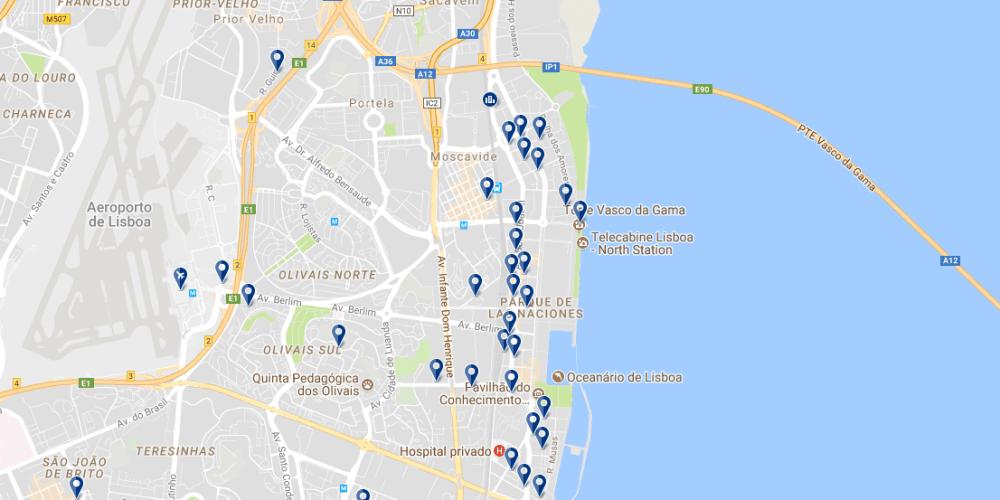 Parque de las Naciones - Haz clic para ver todos los hoteles en esta zona