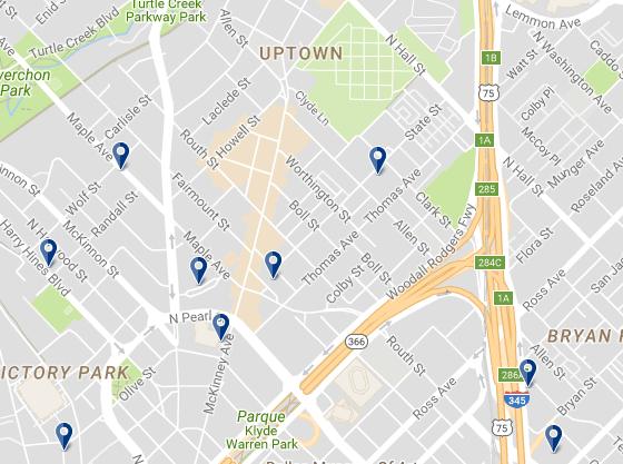 Uptown Dallas - Haz clic para ver todos los hoteles en esta zona