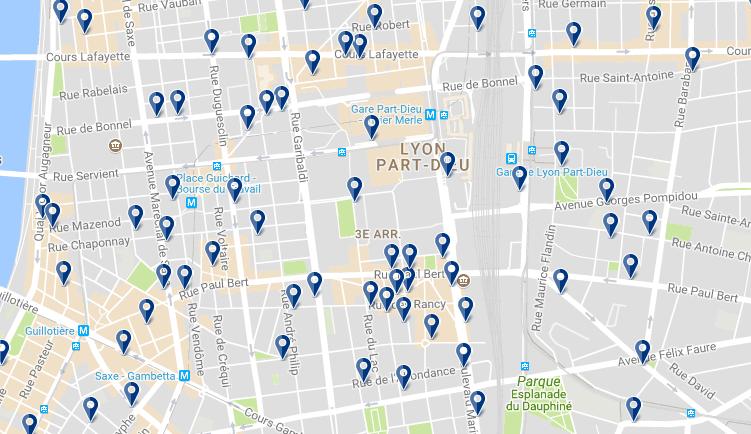 3 arr. Lyon - Haz clic para ver todos los hoteles en un mapa