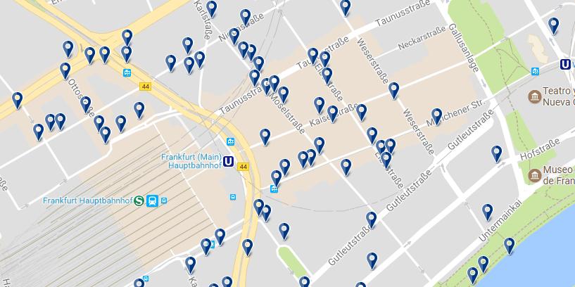 Frankfurt - Banhofviertel - Haz clic para ver todos los hoteles en un mapa