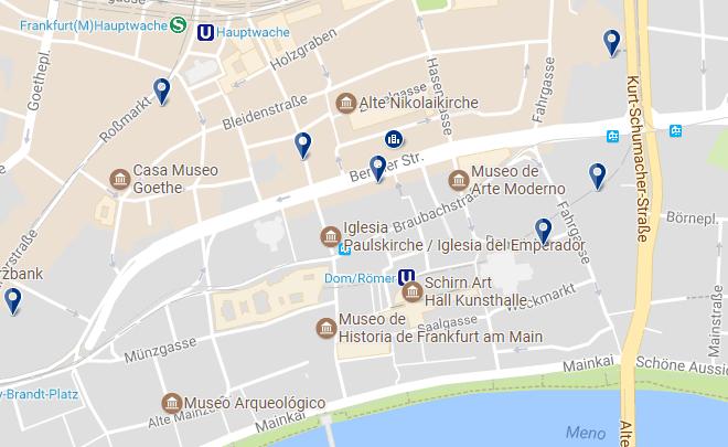 Frankfurt - Zentrum-Altstadt - Haz clic para ver todos los hoteles en un mapa