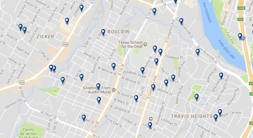 Austin South Congress - Haz clic para ver todos los alojamientos en un mapa