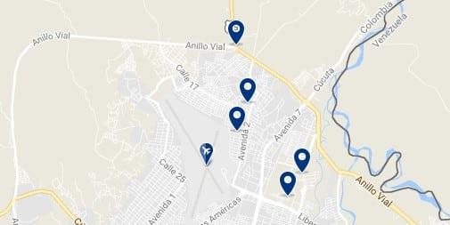 Cúcuta - Aeropuerto Camilo Daza - Haz clic para ver todos los hoteles en un mapa