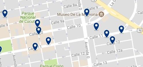 Cúcuta - Calle 10 & Shopping Mall Ventura Plaza - Haz clic para ver todos los hoteles en un mapa