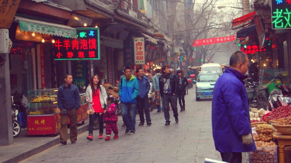 Calle del barrio Musulmán de Xi'an