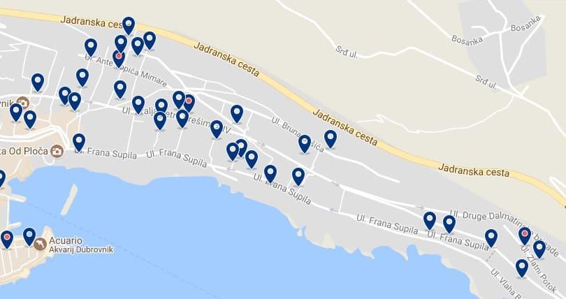 Dubrovnik - Ploce - Haz clic para ver todos los hoteles en un mapa