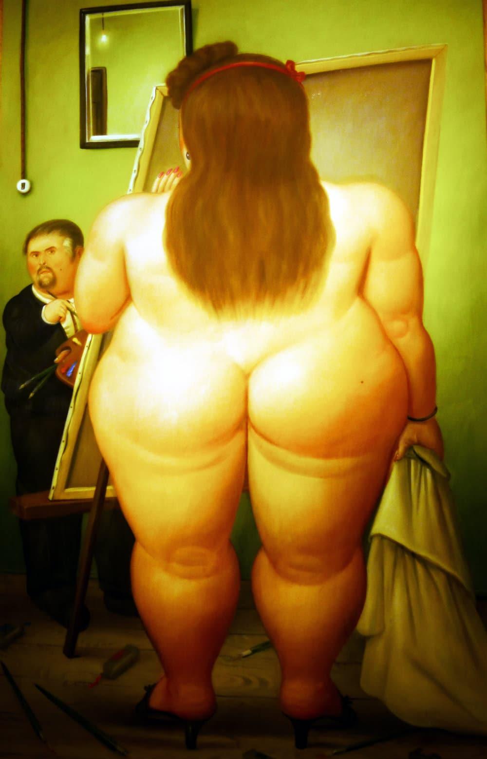 Erotismo y voluptousidad en la obra de Botero