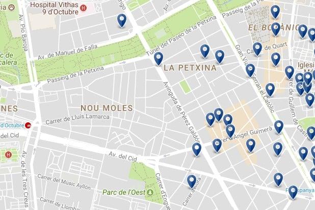 Valencia - Extramurs - Haz clic para ver todos los hoteles en un mapa