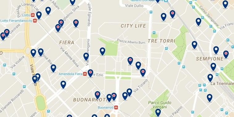 Milano - Fiera Milano City - Haz clic para ver todos los hoteles en un mapa